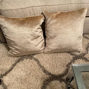 Pier One Champagne colored Throw pillows